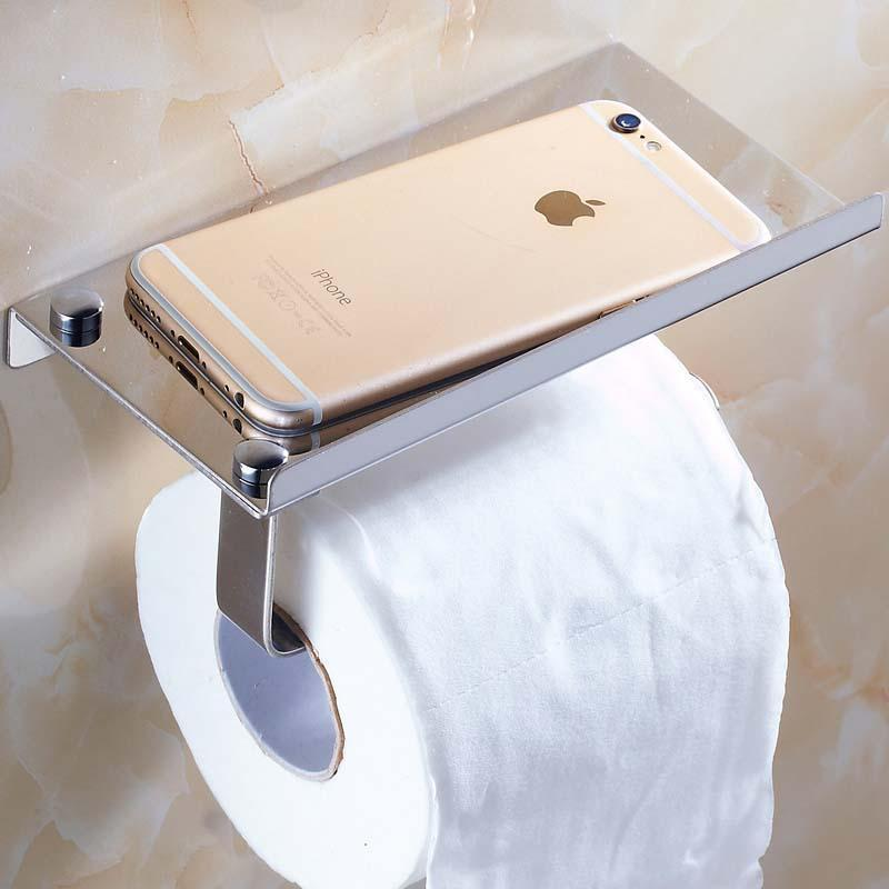 EZ Toilet Paper Holder With Shelf