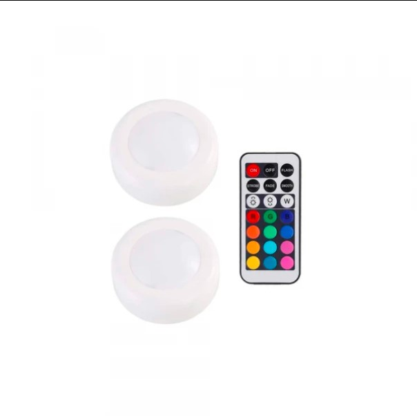 LED Push Lights With Remote 2