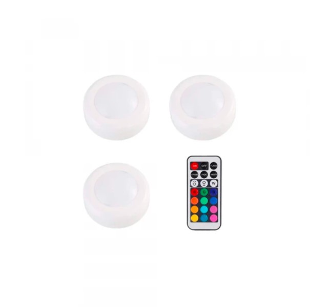 LED Push Lights With Remote 3