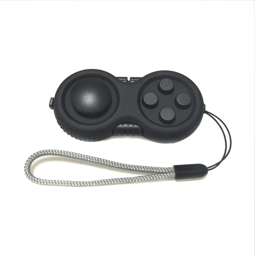 8-Operation Fidget Pad Controller Toy For Dexterity & Stress Release - Black