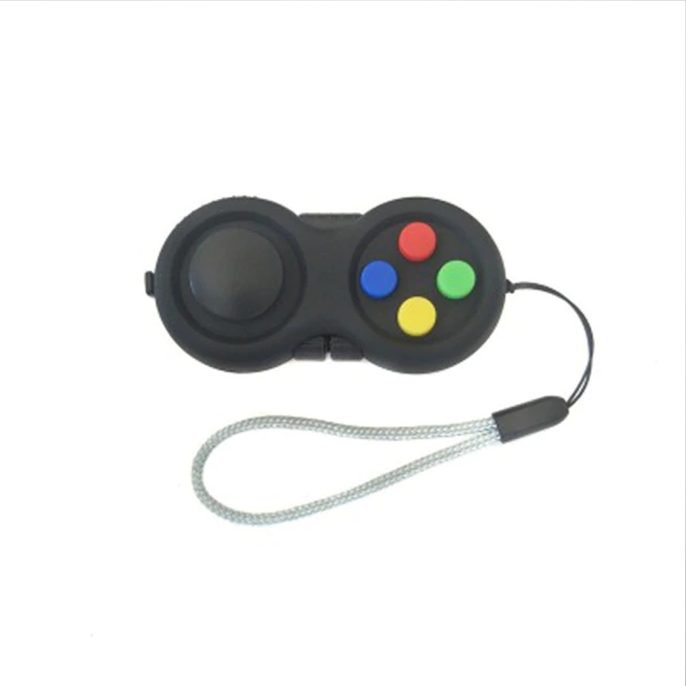 8-Operation Fidget Pad Controller Toy For Dexterity & Stress Release - Multi Color