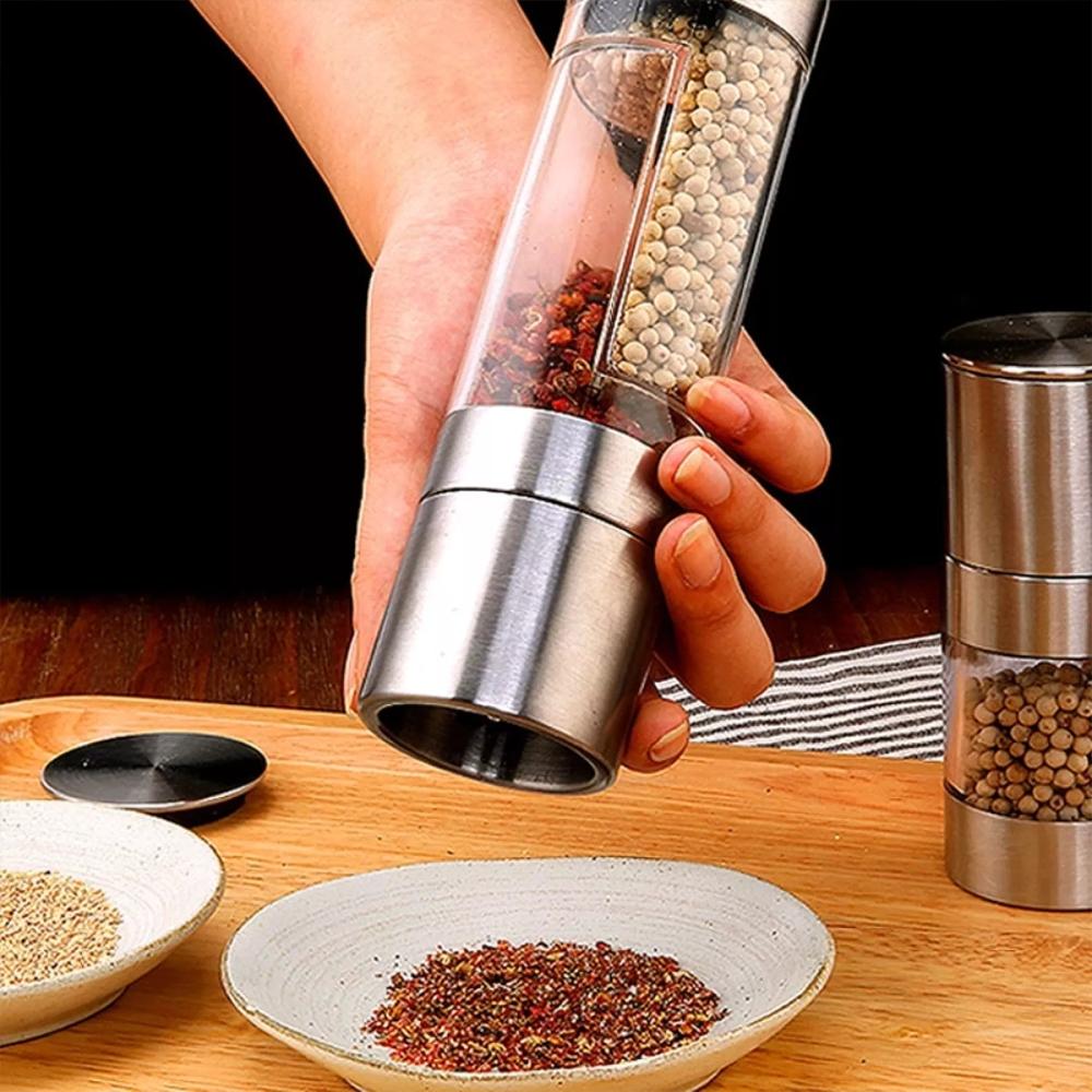 2-in-1 Spice & Sea Salt Grinder Bottle