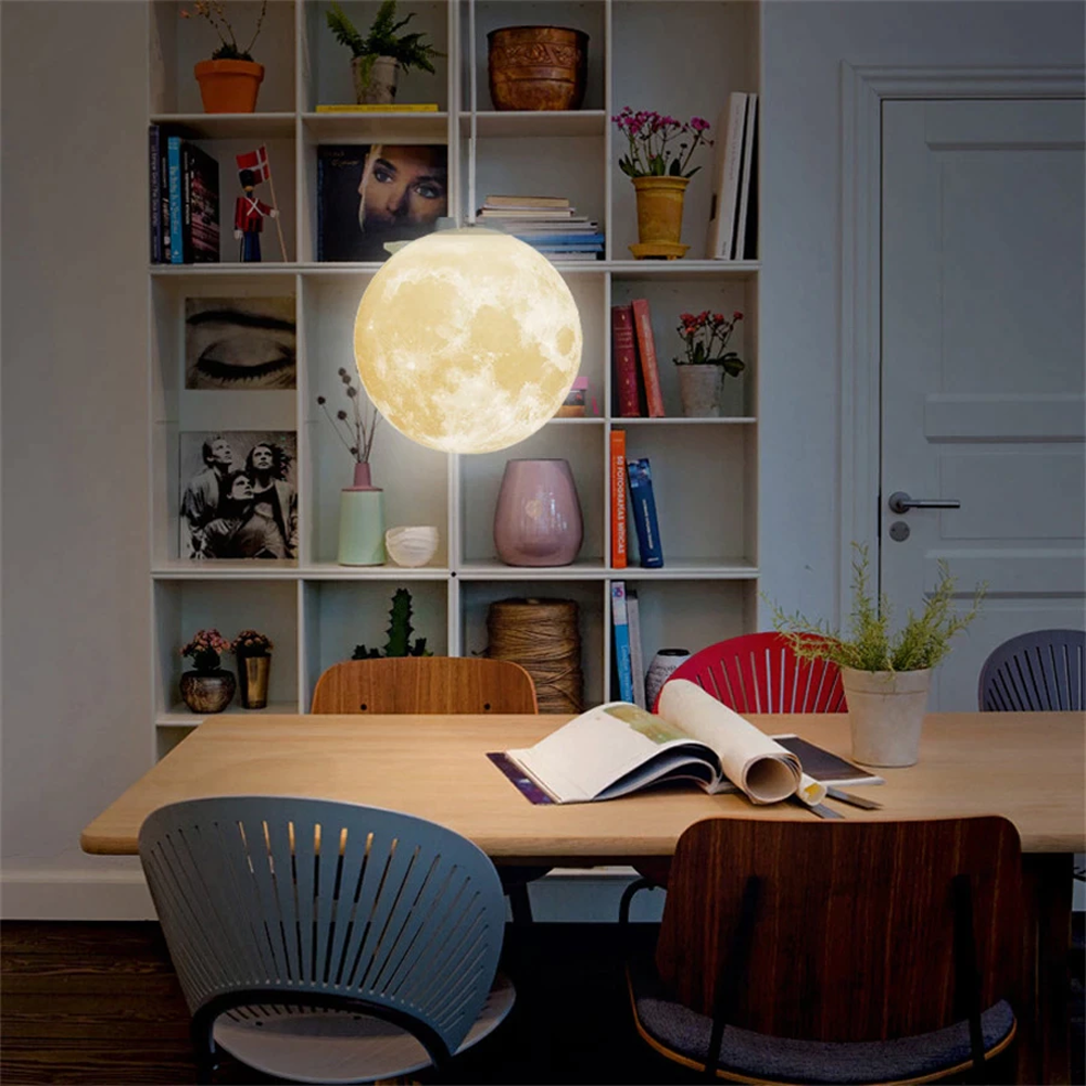 3D Hanging Moon Lamp For Home Decor