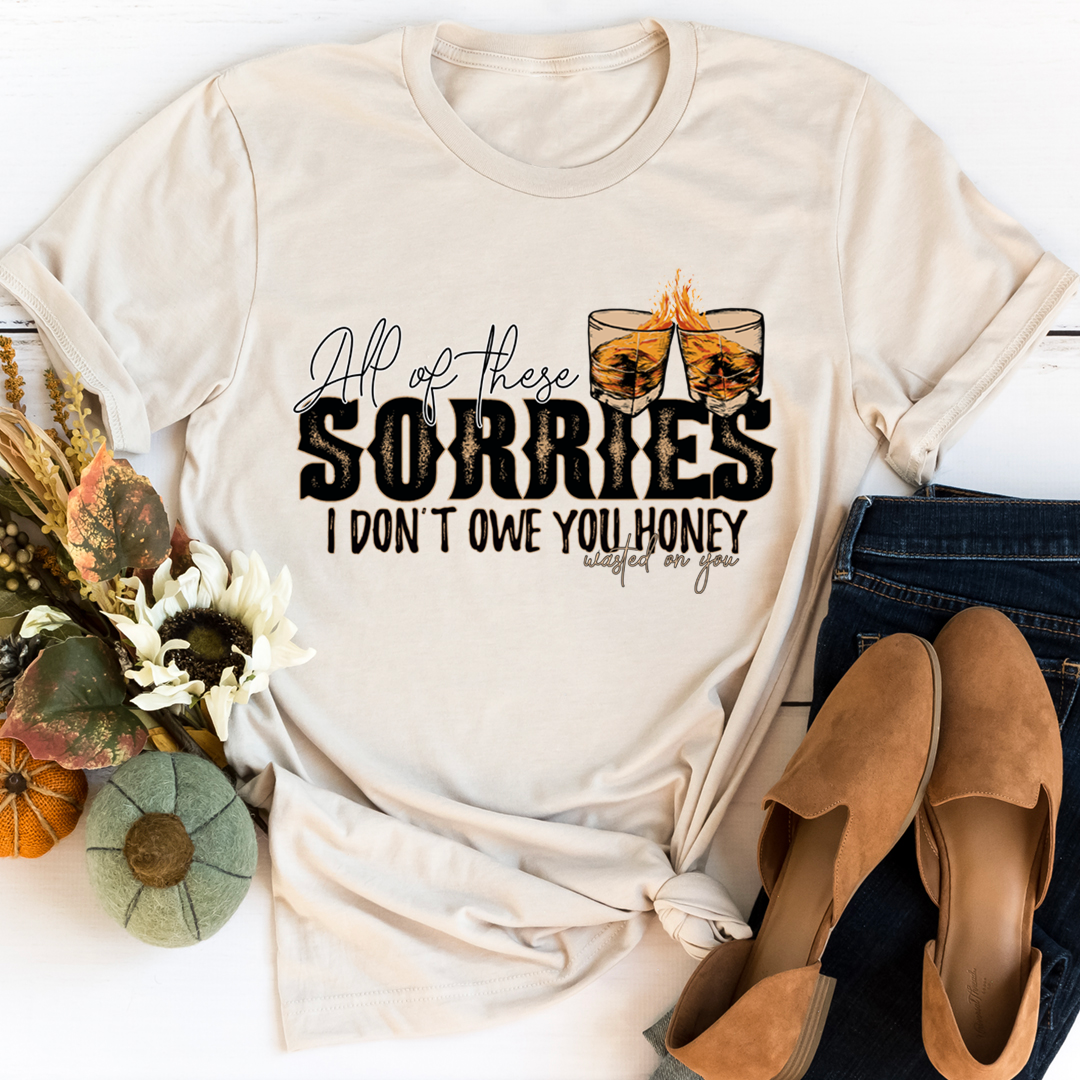 All Of These Sorries I Don't Owe You Honey Tee