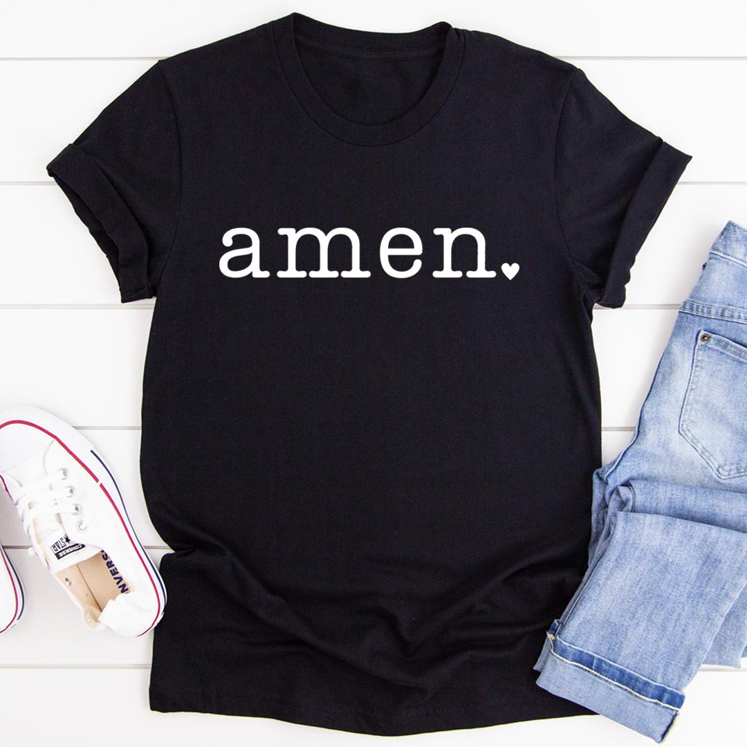 Amen Tee - Black Heather/S