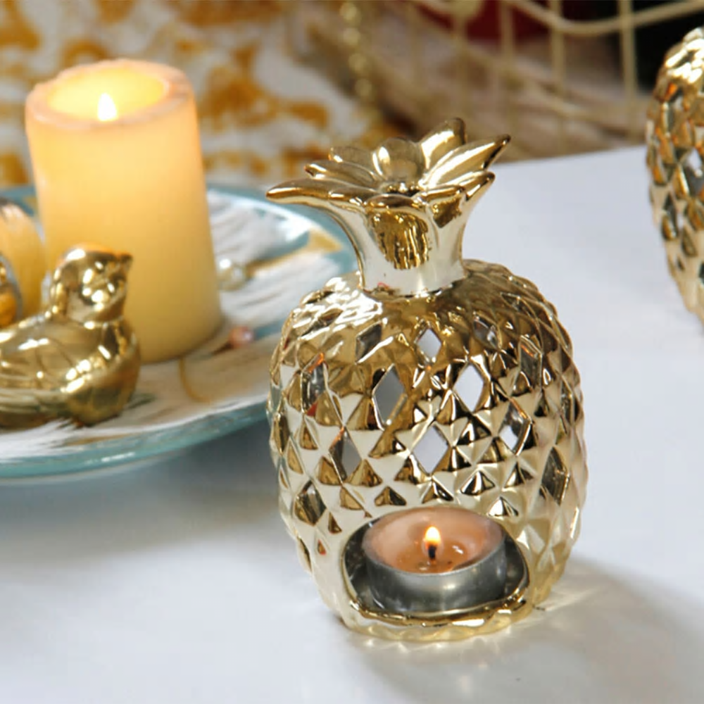 Ceramic Pineapple Candle Holder For Home Décor
