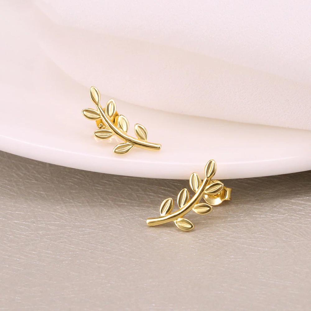leafstudearringsgold