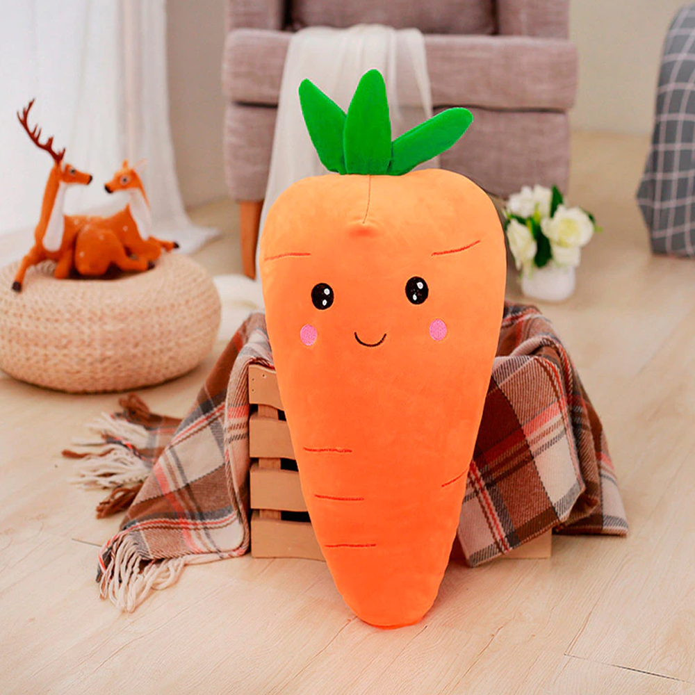 Cute Carrot-Shaped Plush Toy Pillow