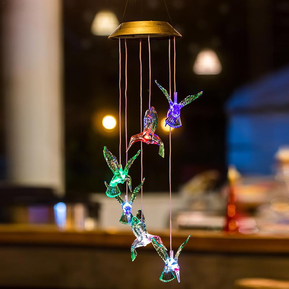 Dangling Hummingbird Solar Lights For Indoor & Outdoor Décor