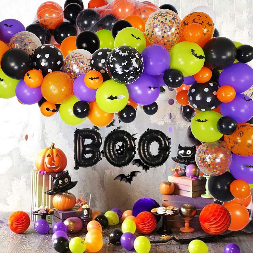 halloweenballoongarland1
