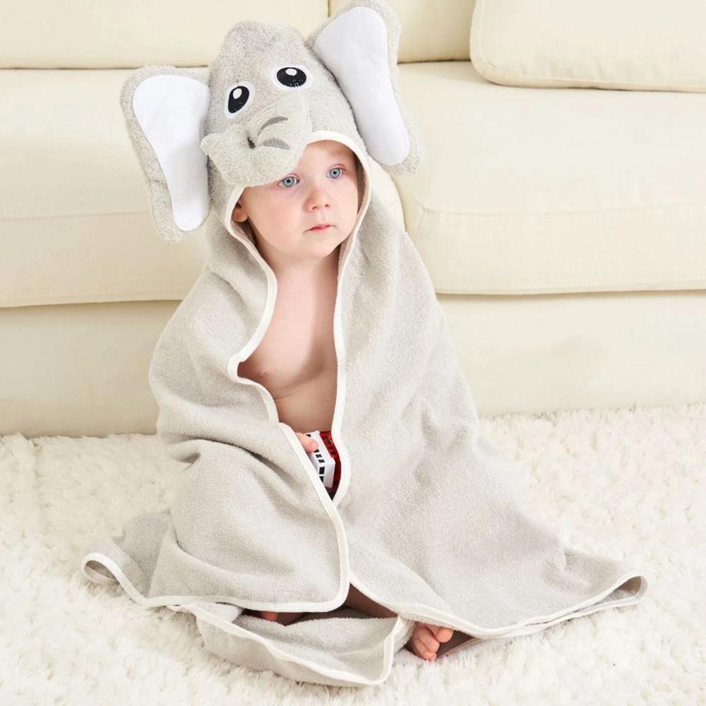 Elephant Hooded Bath Towel For Babies