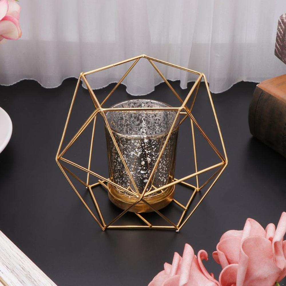 geometriccandleholdergold