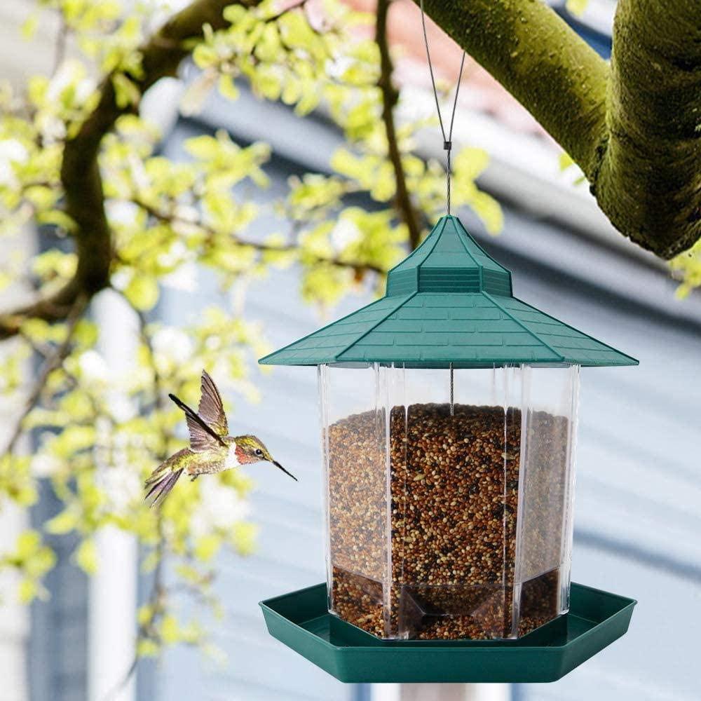 Hexagonal Pavilion Plastic Lighthouse Bird Feeder