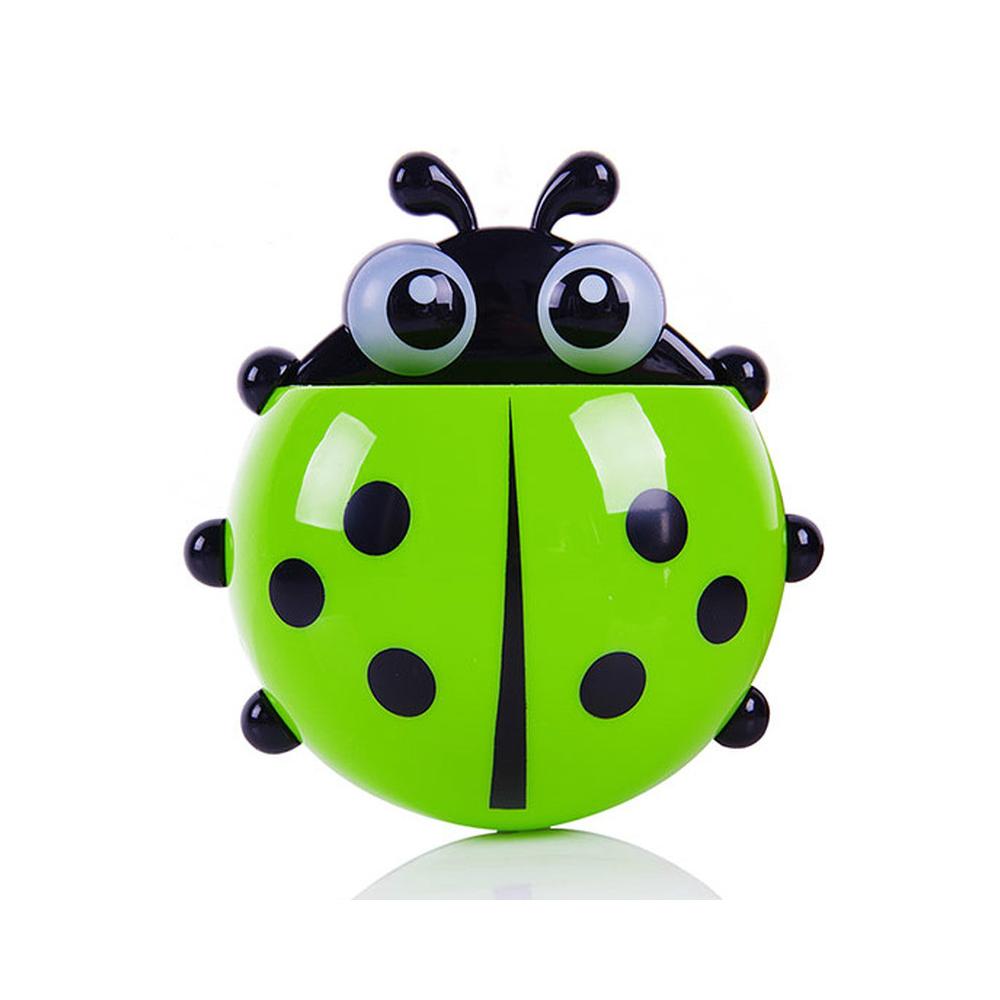 ladybugtoothbrushholdergreen