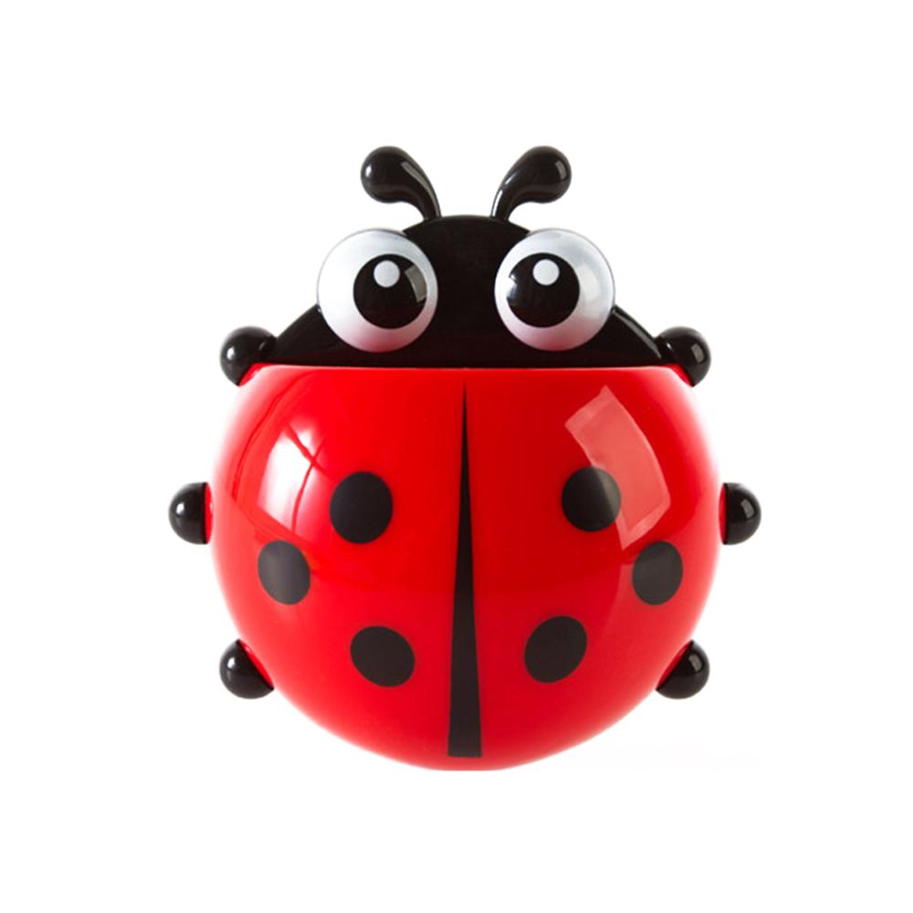 ladybugtoothbrushholderred