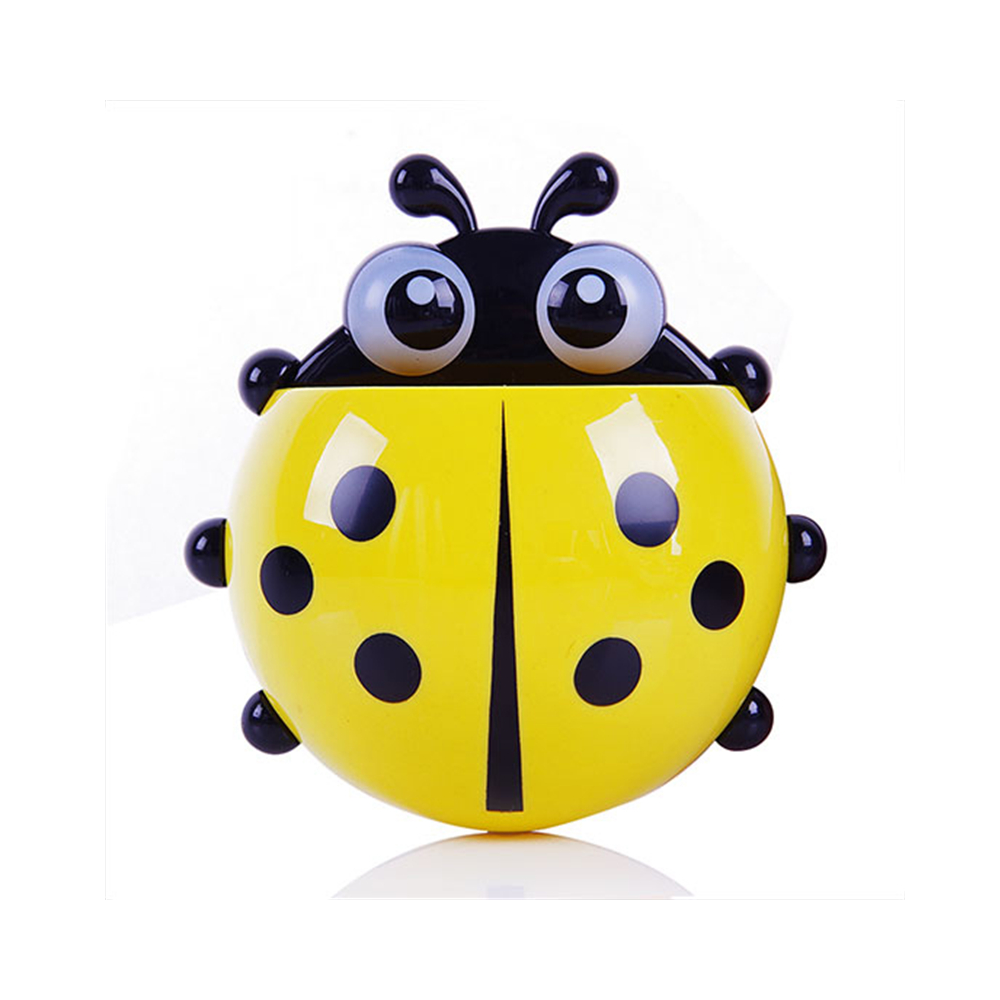 ladybugtoothbrushholderyellow
