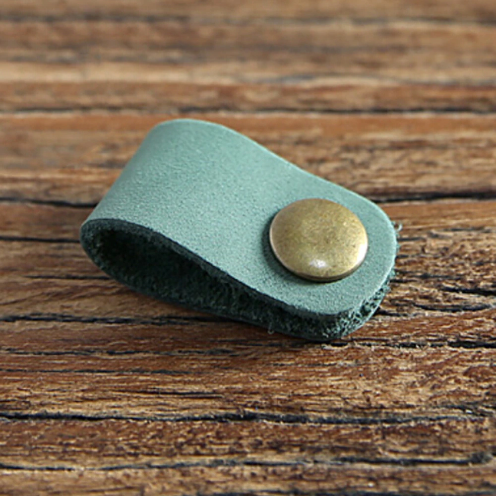 leatherearbudholdergreen