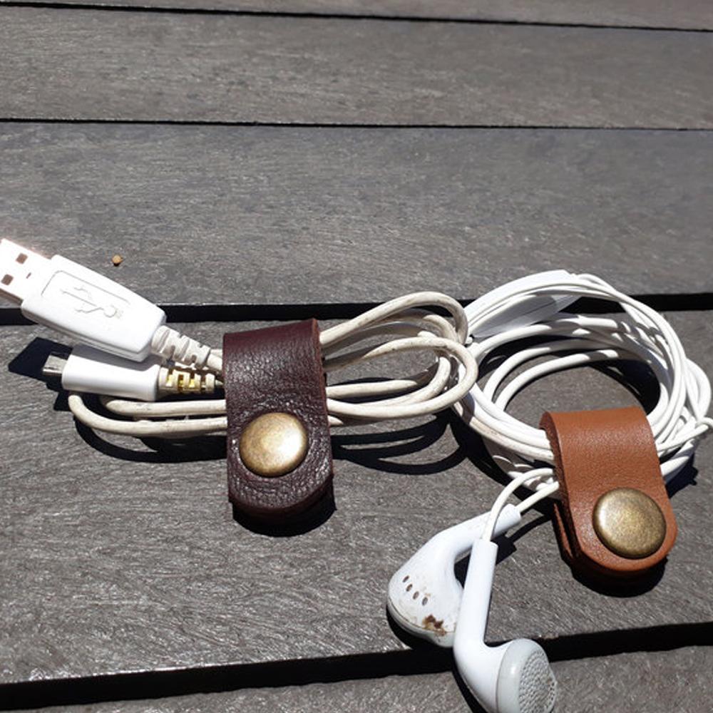Leather Earbud Holder Organizer