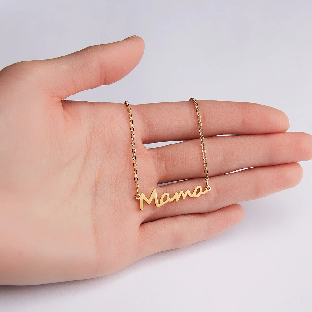 Letter Mama Necklace Gold Chain