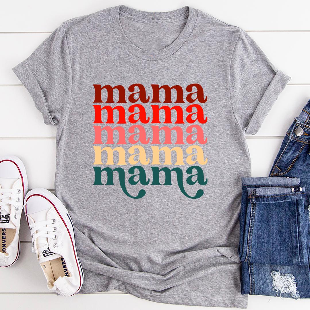 Mama Vintage Colors Tee - Athletic Heather/S