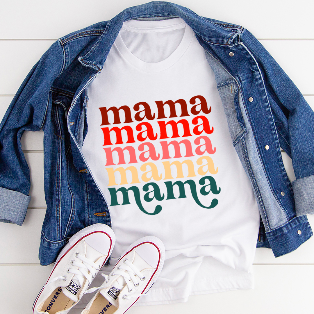 Mama Vintage Colors Tee - White/S