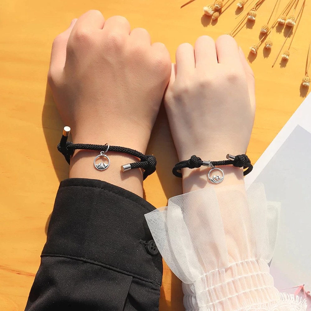 Matching Magnetic Love Couple Bracelet