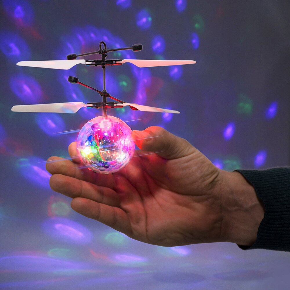 Multicolor LED Flying Ball Helicopter Toy