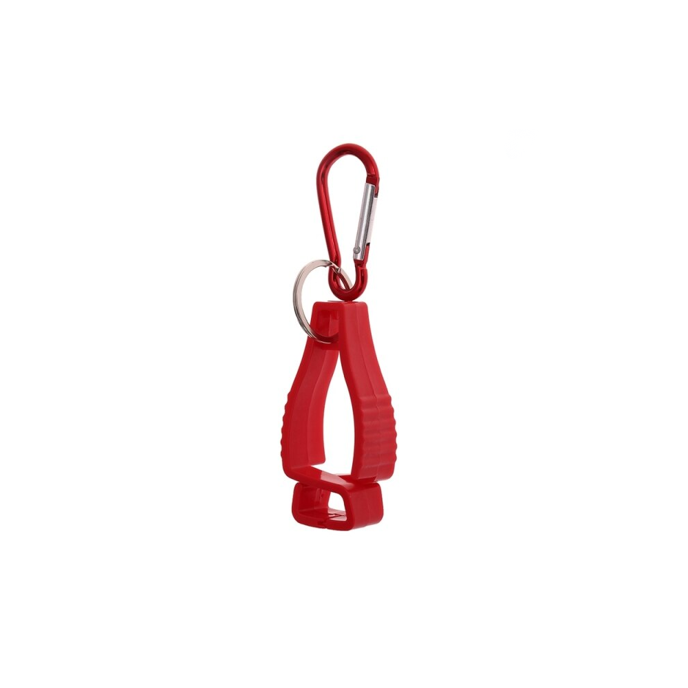 Multifunctional Glove Holder Belt Clip - Red