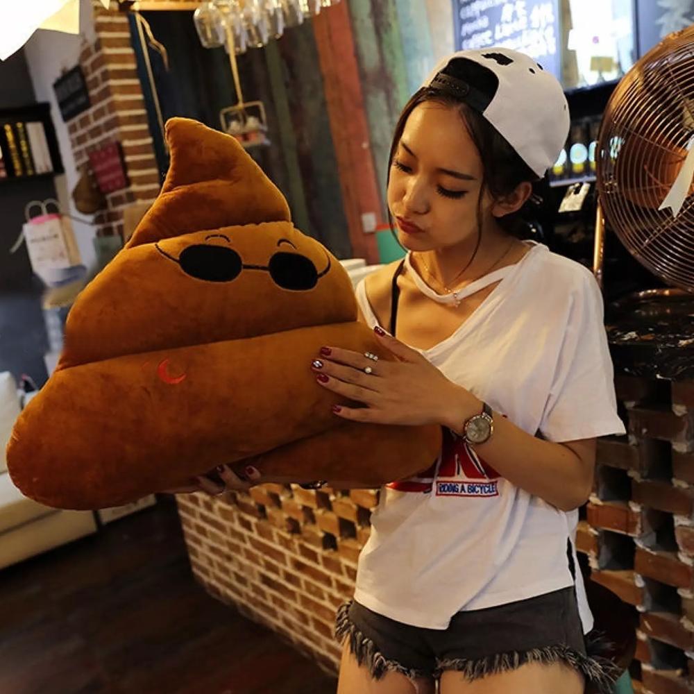 Plush Poop Emoji Pillow