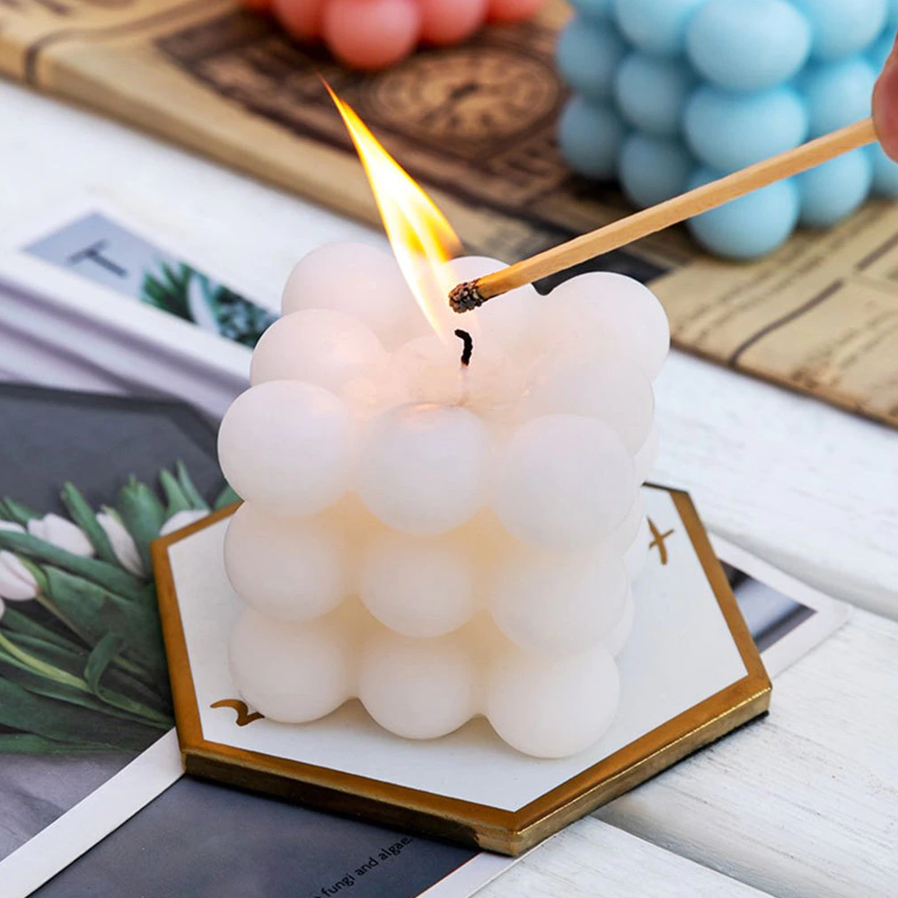Scented Cube Bubble Candle For Destressing