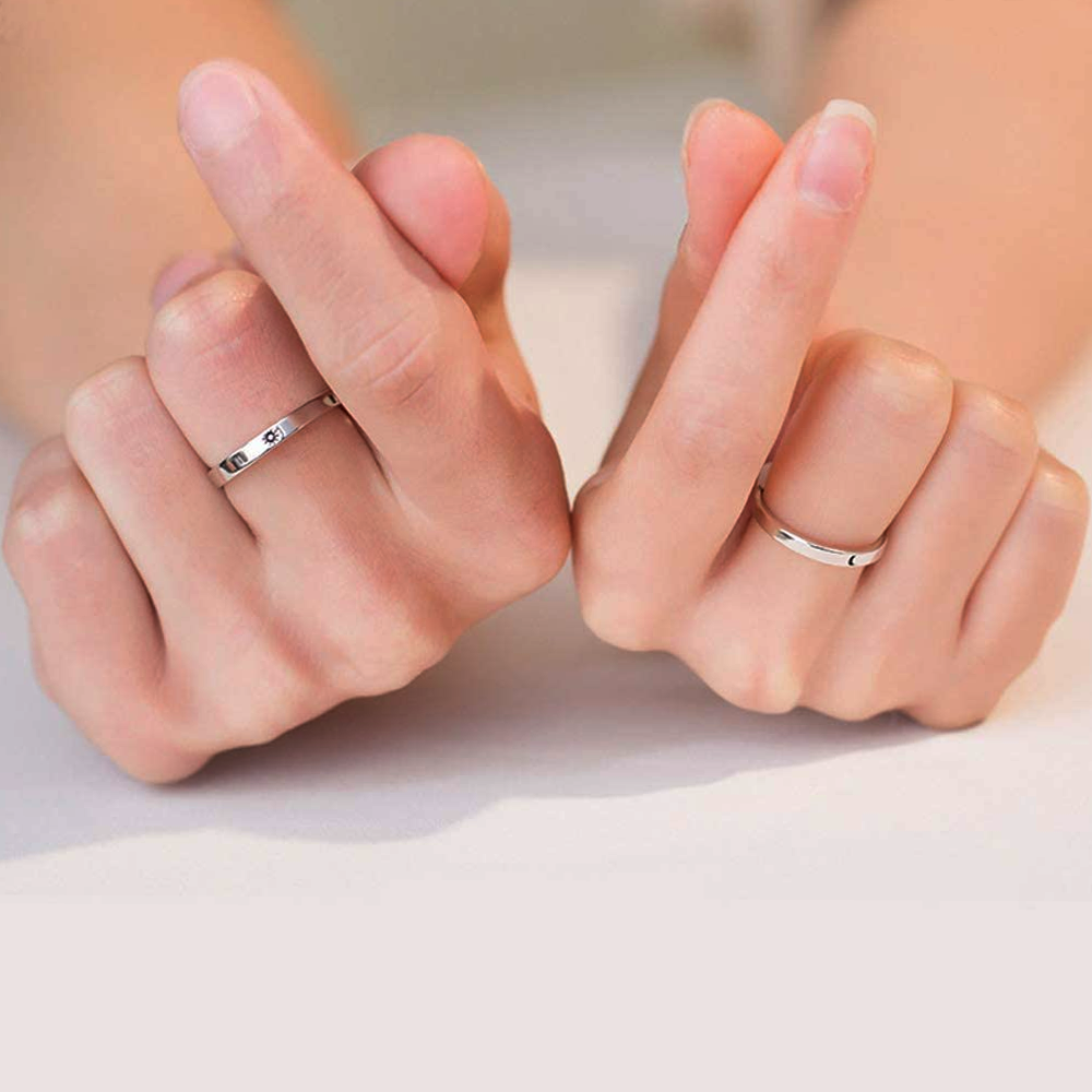 Sun and Moon Promise Ring For Couples