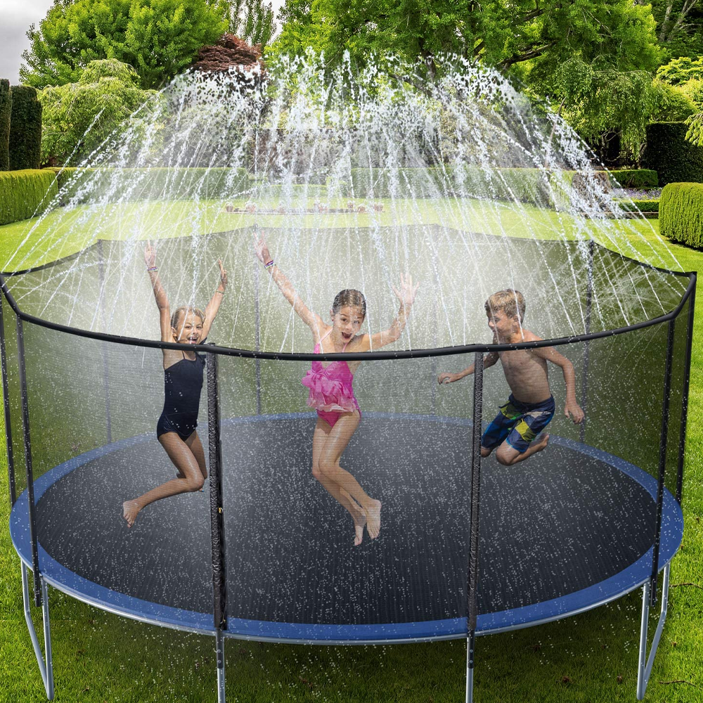 Trampoline Sprinkler Attachment System - Fun Heat Buster Water Game For Kids