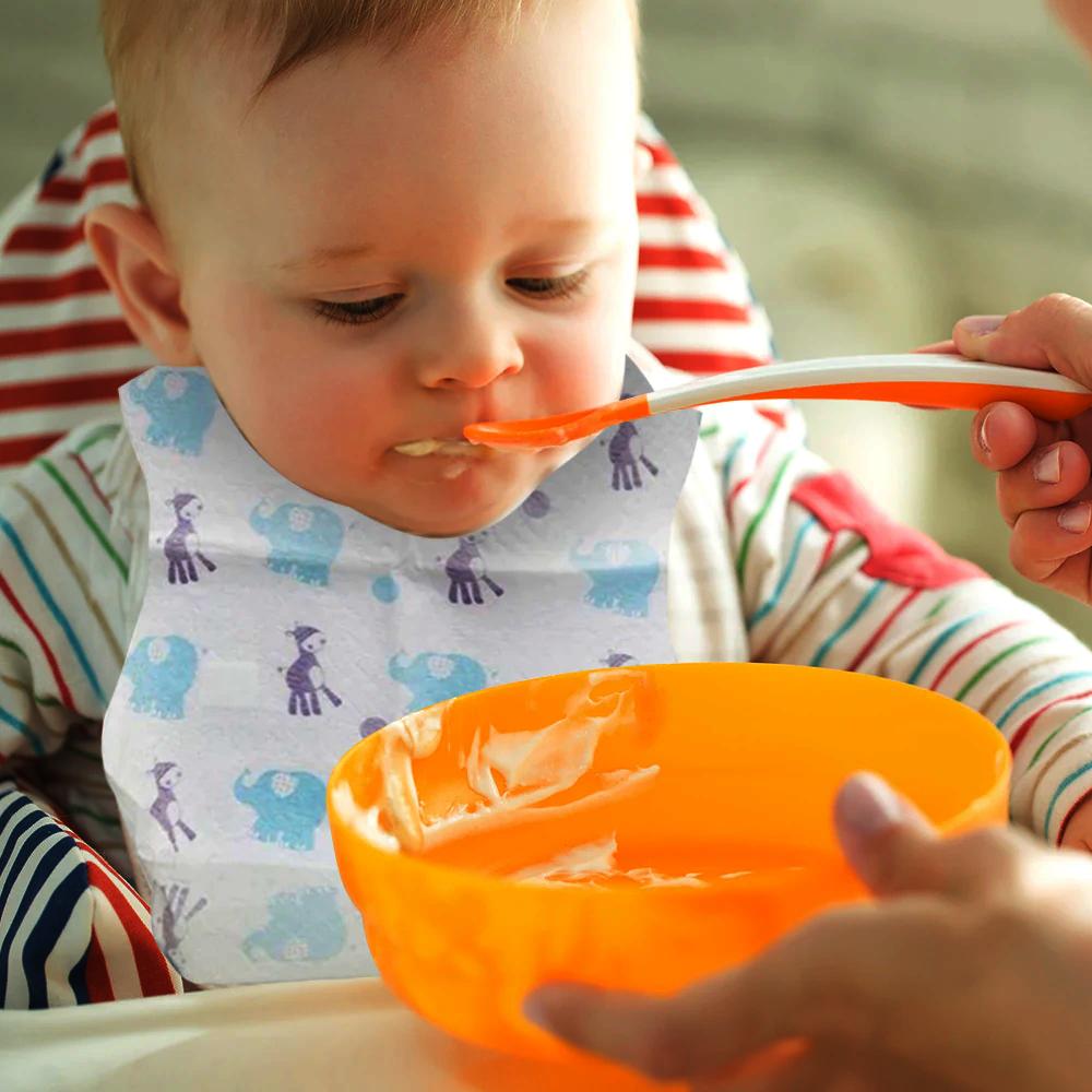 Waterproof Disposable Baby Bibs in Bulk