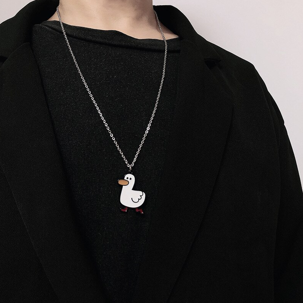 White Duck Necklace