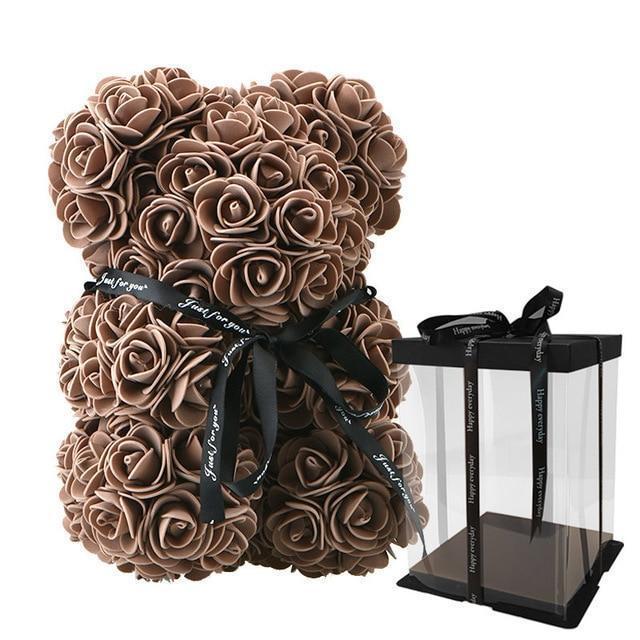 Handmade Forever Rose Teddy Bear