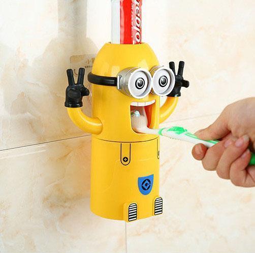 小黄人牙膏分配器