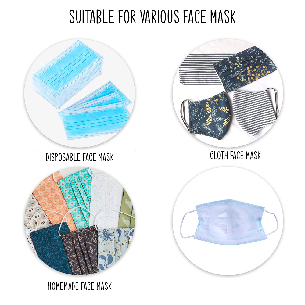 3D Face Mask Bracket Silicone Inner Support Frame For Breath Support (10-Pieces)