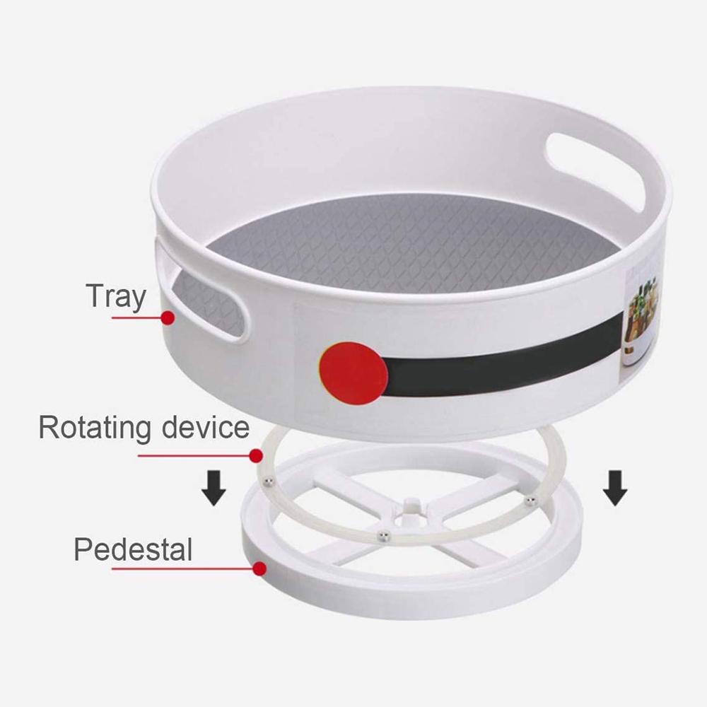 Anti-Skid 360° Rotating Storage Tray
