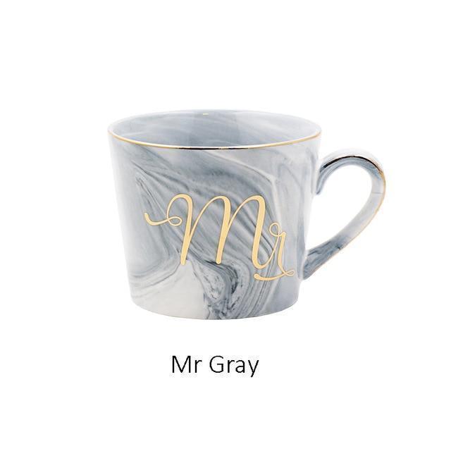 Mr & Mrs Coffee Mugs - Mr Gray