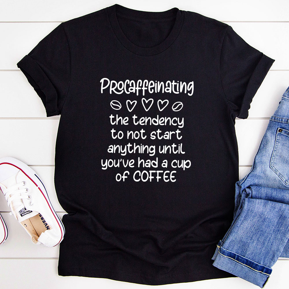 Procaffeinating T-Shirt (Black Heather / S)