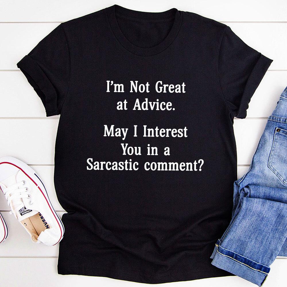 I'm Not Great At Advice T-Shirt (Black Heather / Xl)