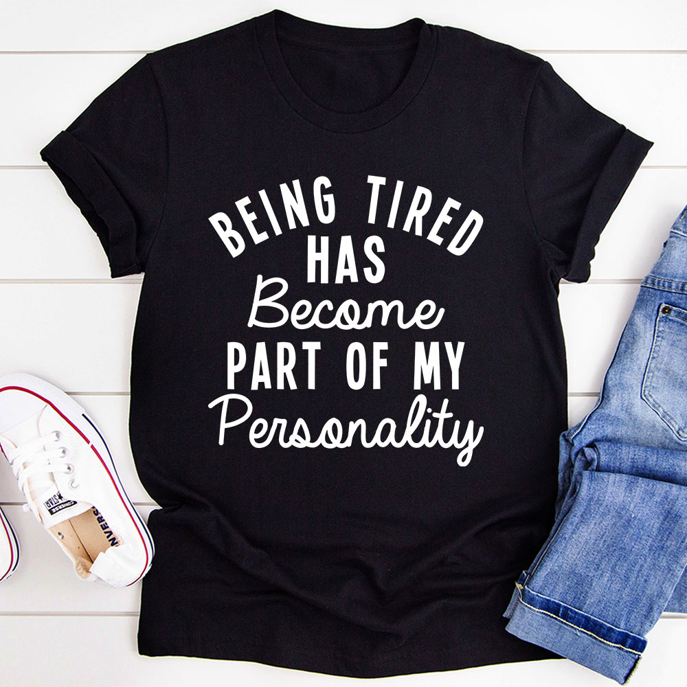 Being Tired T-Shirt (Black Heather / L)