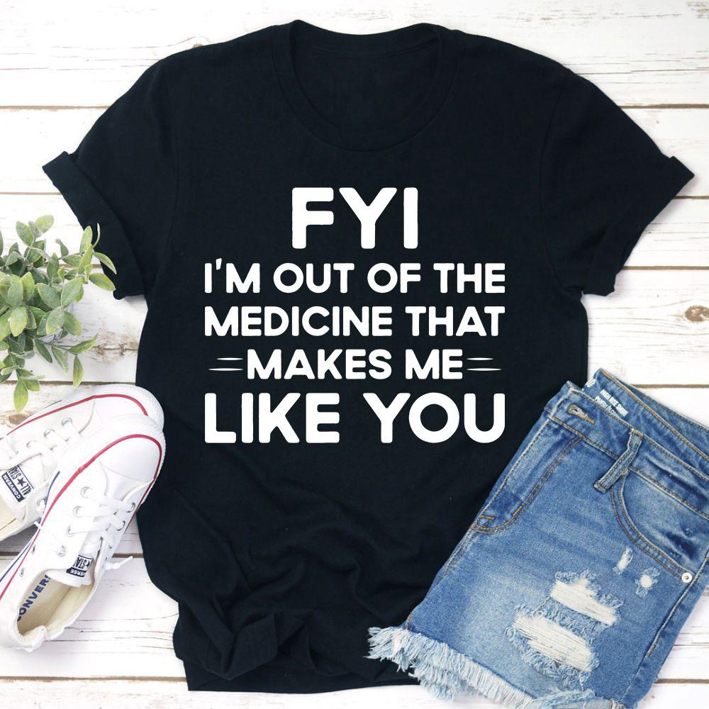 Fyi T-Shirt (Black Heather / S)