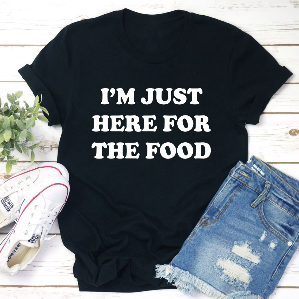 I'm Just Here For The Food T-Shirt (Black Heather / 2Xl)
