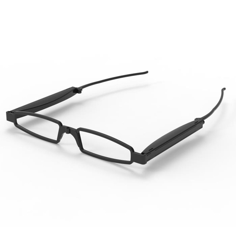 Collapsible Fashionable Foldable Pocket Glasses For Reading-Black-+150