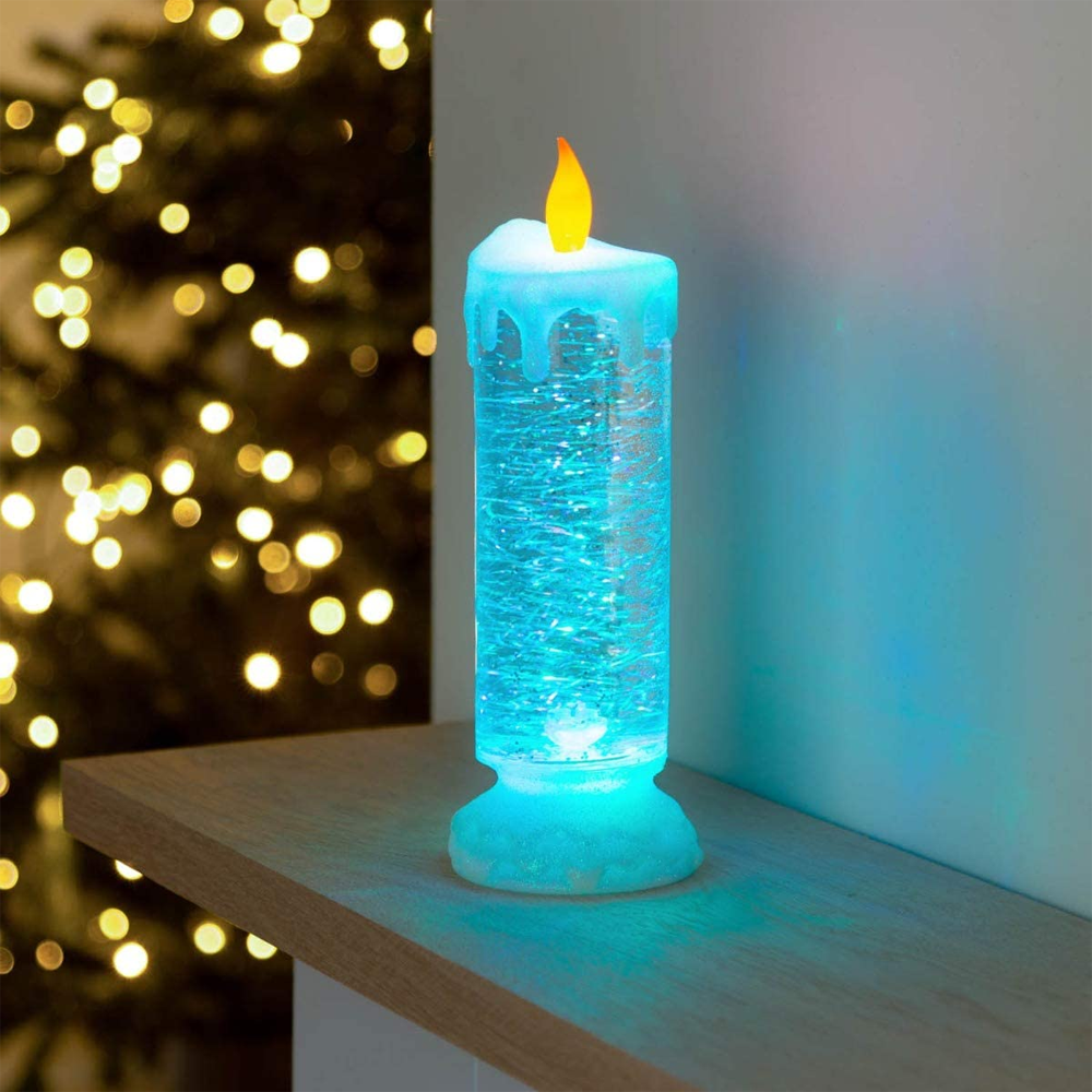 Color Changing Flashing Water Flameless Christmas Candle Light