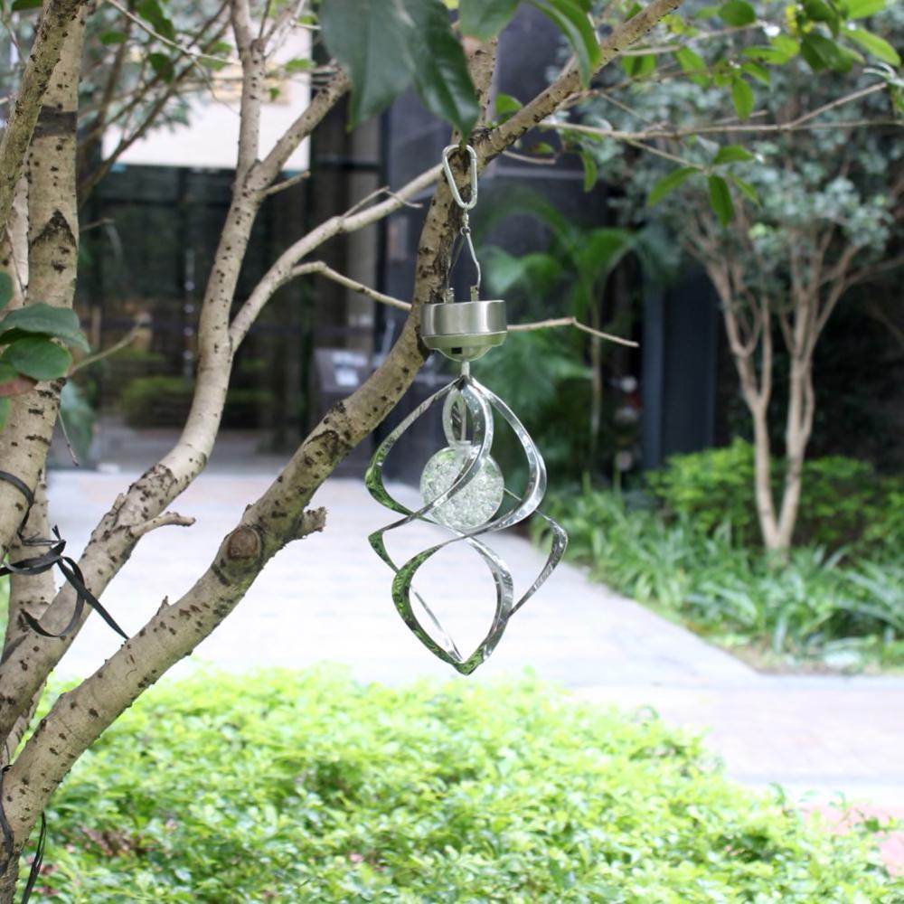 Hanging Solar Swirl Wind Spinner