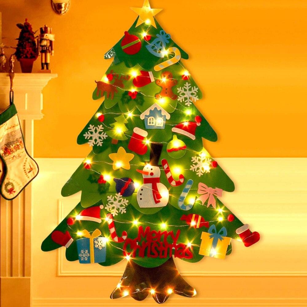 DIY Felt Christmas Glow Tree