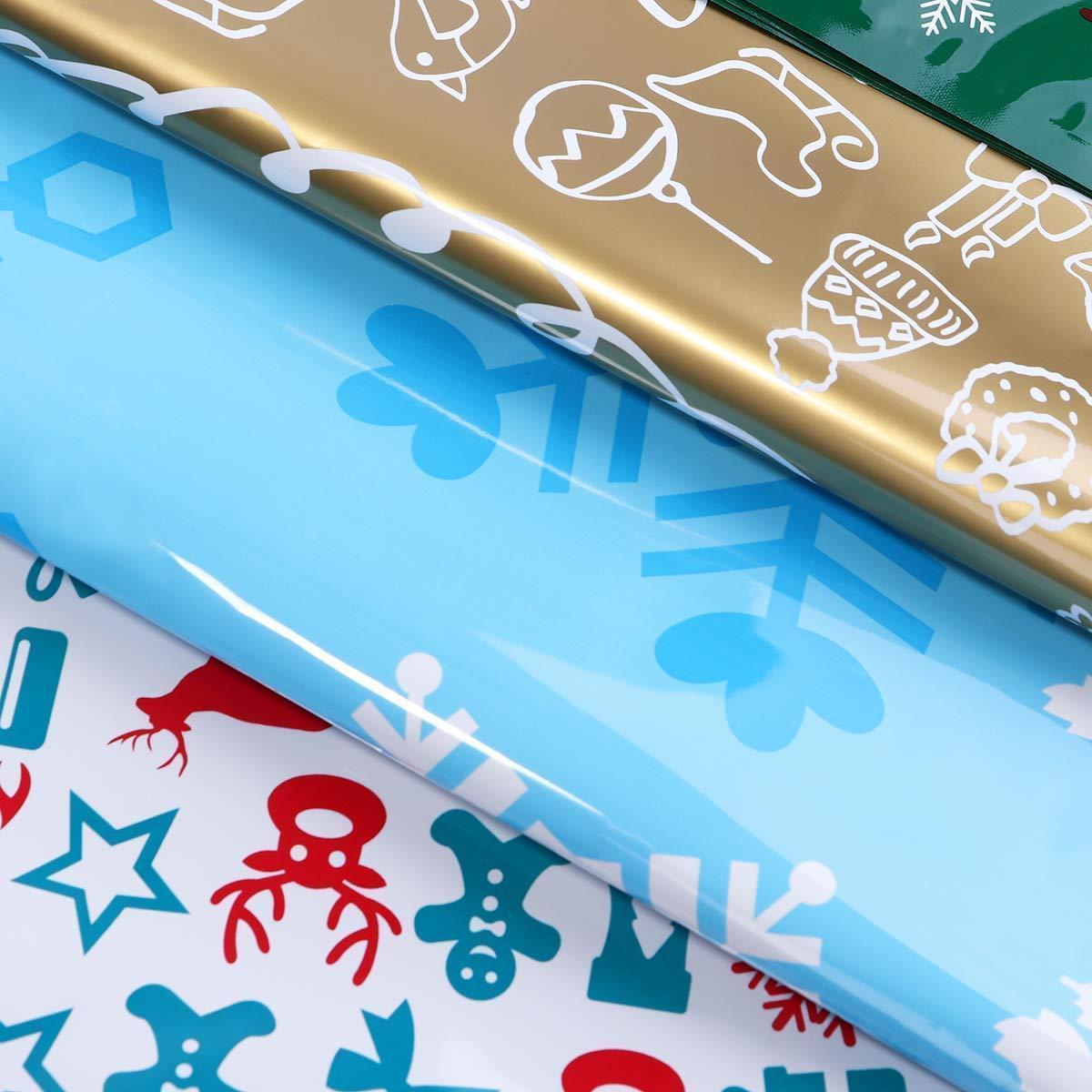 Drawstring Christmas Gift Bags 30-Piece Set