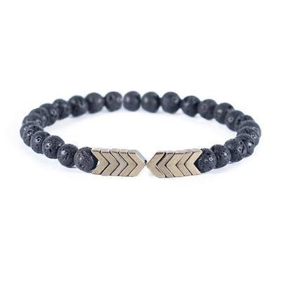 Arrow Lava Stone Bracelet
